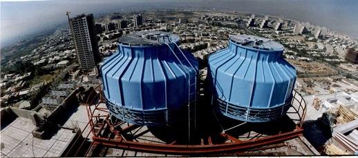 فروش برج خنک کننده فایبرگلاس صنعتی