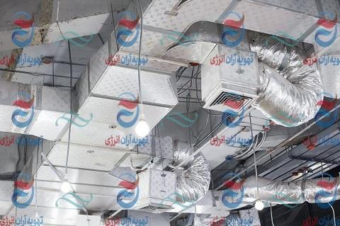سیستم تهویه مطبوع در کارخانه